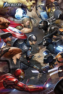 Avengers Gamerverse Poster Set Face Off 61 x 91 cm (5)