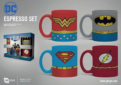 DC Comics Espresso-Tassen 4er-Pack Uniforms