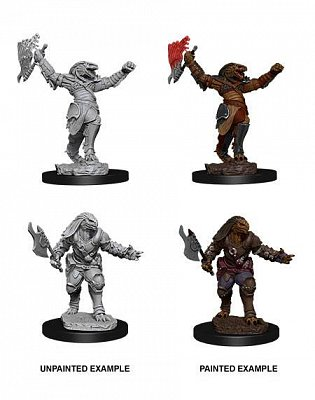 D&D Nolzur\'s Marvelous Miniatures Miniaturen unbemalt Female Dragonborn Fighter Umkarton (6)