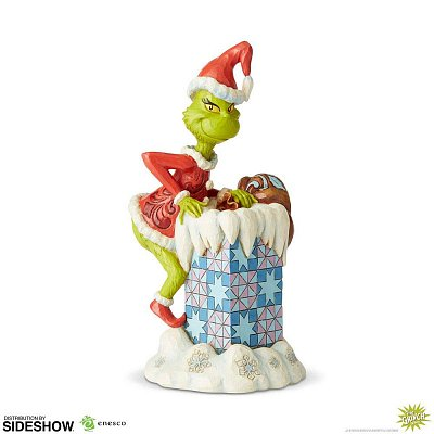 Der Grinch Statue Grinch Climbing in the Chimney by Jim Shore 23 cm
