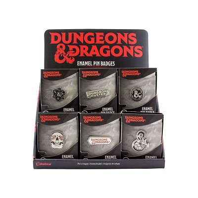 Dungeons & Dragons Metall Ansteck-Button Display (18)