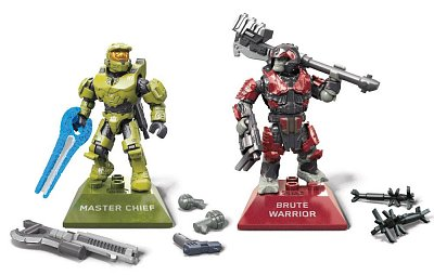 Halo Infinite Mega Construx Pro Builders Bauset Master Chief vs. Brute Warrior