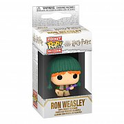 Harry Potter Pocket POP! Vinyl Schlüsselanhänger 4 cm Holiday Ron Display (12)