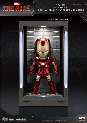 Iron Man 3 Mini Egg Attack Actionfigur Hall of Armor Iron Man Mark VII 8 cm