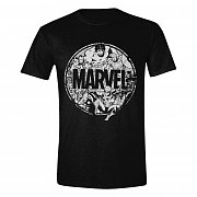 Marvel T-Shirt Character Circle
