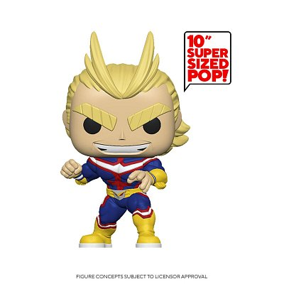 My Hero Academia Super Sized POP! Animation Vinyl Figur All Might 25 cm --- BESCHAEDIGTE VERPACKUNG