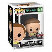 Rick & Morty POP! Animation Vinyl Figur Morty w/Laptop 9 cm