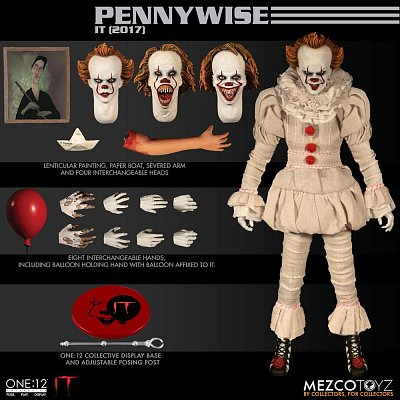Stephen Kings Es 2017 Actionfigur 1/12 Pennywise 17 cm